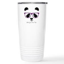 Cute Panda Purple Travel Mug