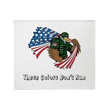 Custom Flag and Eagle Throw Blanket