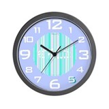 Retro Wall Clock in Periwinkle Blue