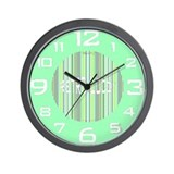 Retro Wall Clock in Mint Green