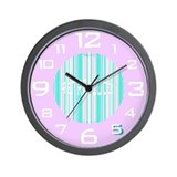 Retro Wall Clock in Lavender