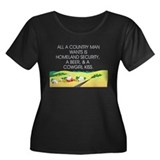 Country Man Slogan Women's Plus Size Scoop Neck Da