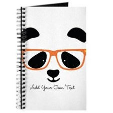 Cute Panda Orange Journal