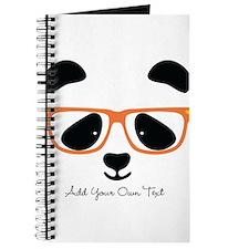 Cute Panda Orange Journal