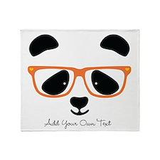 Cute Panda Orange Throw Blanket