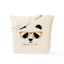 Cute Panda Orange Tote Bag