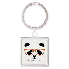 Cute Panda Orange Keychains
