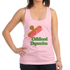 Childhood Depression Racerback Tank Top