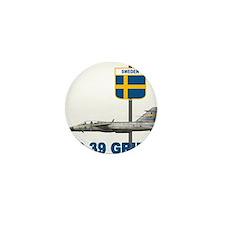 Cute Sweden flag Mini Button (10 pack)