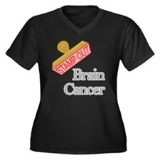 Brain Cancer Plus Size T-Shirt