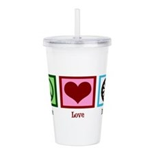 peacelovedartswh.png Acrylic Double-wall Tumbler