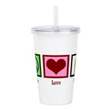 Peace Love Beer Acrylic Double-wall Tumbler