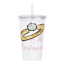 Personalized Mrs. Acrylic Double-wall Tumbler