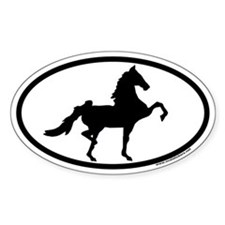American Saddlebred Euro Oval Decal