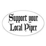 Support Your Local Piper Oval Decal