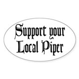 Support Your Local Piper Oval Stickers