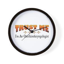 Trust Otorhinolaryngologist Wall Clock