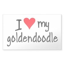 I LOVE MY Goldendoodle Decal