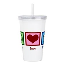 Peace Love Banking Acrylic Double-wall Tumbler