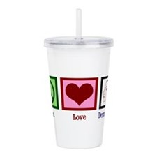 Peace Love Dermatology Acrylic Double-wall Tumbler