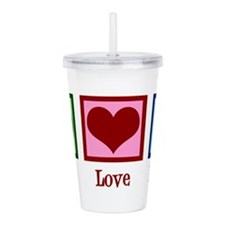 Peace Love Nurse Acrylic Double-wall Tumbler