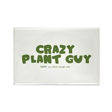 Crazy Plant Guy Rectangle Magnet