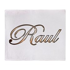 Gold Raul Throw Blanket
