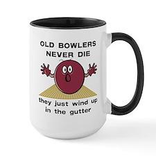 Old Bowlers Never Die Large Mug