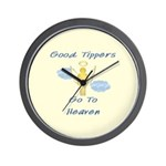 Good Tipper Angel Wall Clock