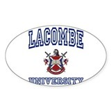 LACOMBE University Oval Decal
