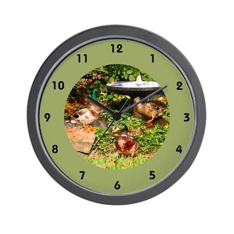 Wild Mallard Ducks Wall Clock