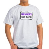 Philosopher for Hire (Purple) T-Shirt