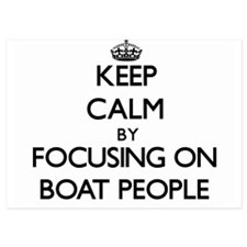 Keep Calm by focusing on Boat People Invitations