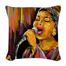 Singing Series Woven Throw Pillow