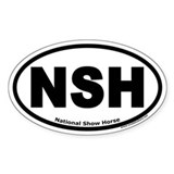 "National Show Horse ""NSH"" Oval Decal"