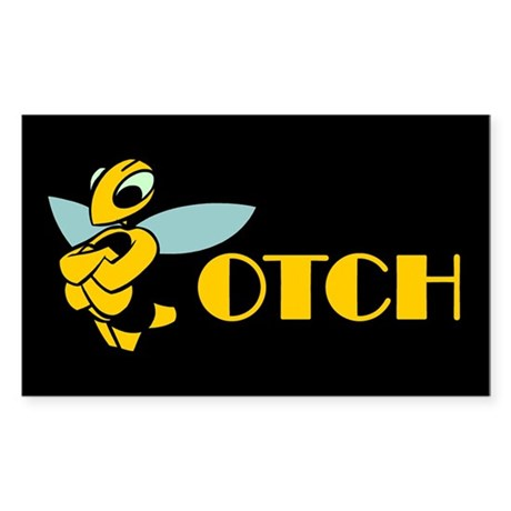 Bee-Otch / Biatch Rectangle Sticker
