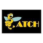 Bee-Atch / Biatch Rectangle Sticker