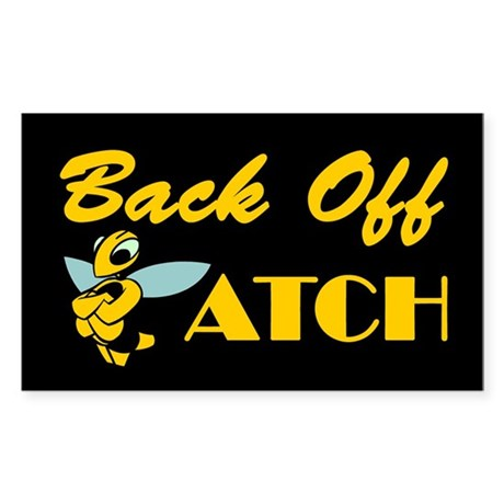 Back Off Biatch Bee Rectangle Sticker
