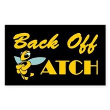 Back Off Biatch Bee Rectangle Decal