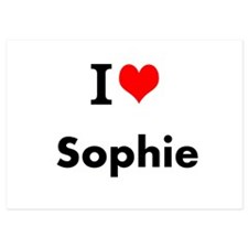 I Love Heart Custom Name (Sophie) Custom Text Invi