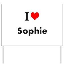 I Love Heart Custom Name (Sophie) Custom Text Yard