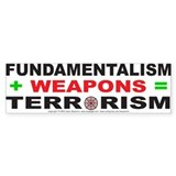 Fundamental Terror Bumper Bumper Sticker