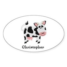 Cow Just Add Name Decal