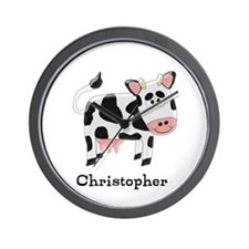 Cow Just Add Name Wall Clock