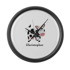 Cow Just Add Name Large Wall Clock