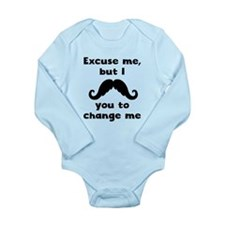 I Mustache You To Change Me Body Suit
