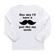 Mustache Just Like My Uncle Long Sleeve T-Shirt