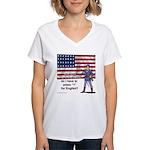 Press 1 for English? Women's V-Neck T-Shirt