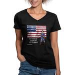 Press 1 for English? Women's V-Neck Dark T-Shirt