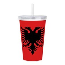Albania Flag Acrylic Double-wall Tumbler